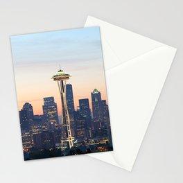 Space Needle Skyline Seattle Stationery Cards