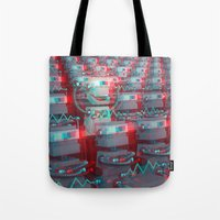cinema Tote Bags featuring Robot Cinema by Chayground