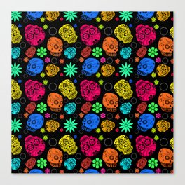 Day of the Dead Pattern Canvas Print