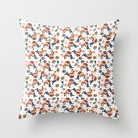 turtles Throw Pillows featuring Turtles by luizavictoryaPatterns