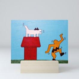 Charlie & Snoopy Mini Art Print