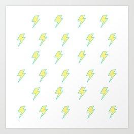 Bolt - Yellow Art Print