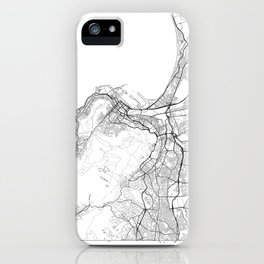 Cape Town Map White iPhone Case