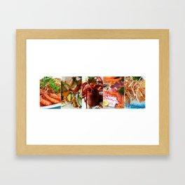 Collage of Seafood - Cafe or Restaurant Decor Framed Art Print