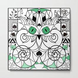 Art swirl ornament Metal Print