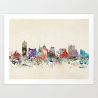 memphis Art Prints featuring memphis tennessee by bri.buckley