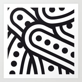dots & curves Art Print
