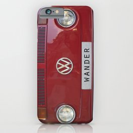 Wander wolkswagen. Summer dreams. Red iPhone Case