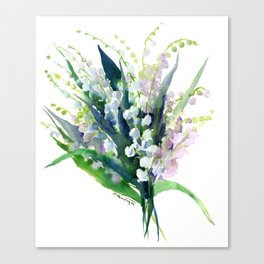 Lilies of the Valley, spring floral design flowers sring design wood flowers Canvas Print