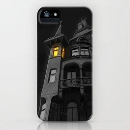 Haunted House (#Drawlloween2016 Series) iPhone Case