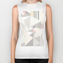 Geometrical modern pastel colors stripes triangles pattern Biker Tank