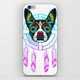Boston Terrier Sugar Skull Dream Catcher iPhone Skin