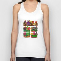 merry christmas Tank Tops featuring Merry Christmas! by Klara Acel