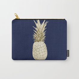 Pineapple Pineapple Gold on Navy Blue Carry-All Pouch