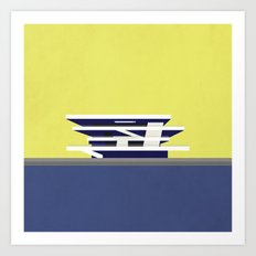 America's Cup Building - Modern architecture abstracts Art Print