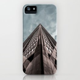 Epic Look Up View of the Chicago's John Hancock Building iPhone Case
