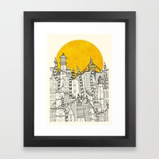 Big Sun Small City Framed Art Print