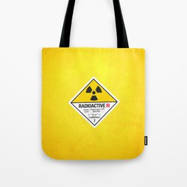 Radioactive sign Back to the future Tote Bag
