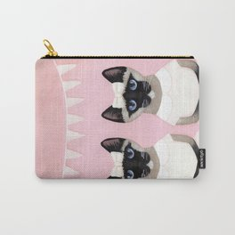 The Siamese Twin Cats Carry-All Pouch