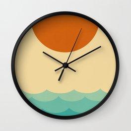 Sun and waves Wall Clock