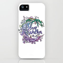Sleepwalker in the night iPhone Case