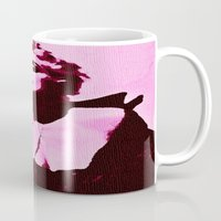 madonna Mugs featuring Madonna in Pink by Krista May