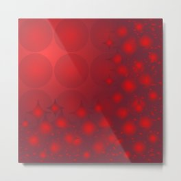 Red Planets Metal Print