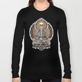 Starving Buddha - Wood Grain Long Sleeve T-shirt