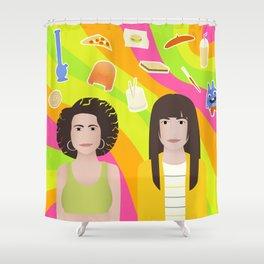 Broad Illustration Shower Curtain