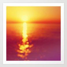 Bokeh sunset Art Print