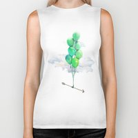 balloons Biker Tanks featuring Balloons by Syac
