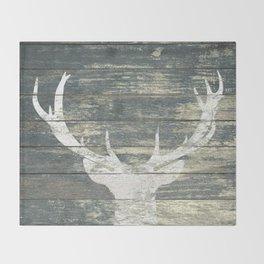 Rustic Deer Silhouette A311 Throw Blanket