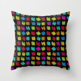 LOVE 3D Icon on black L O V E Throw Pillow