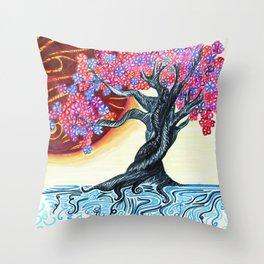 Japanese Jupiter Throw Pillow