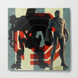 Detroit's Finest - OCP Robocop Metal Print