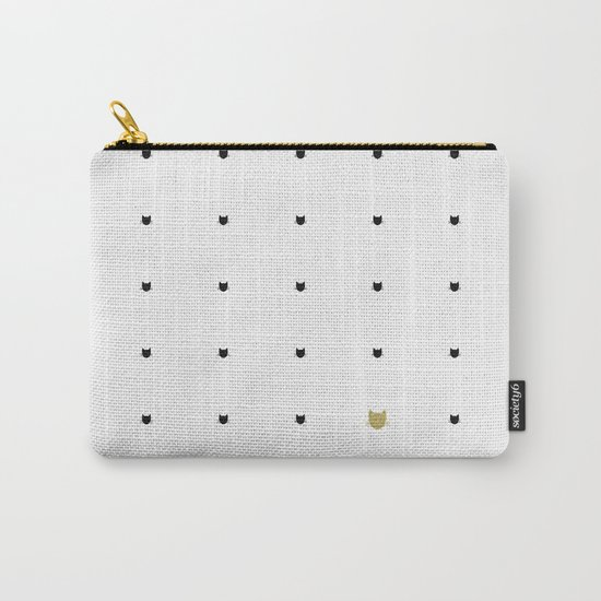 One Golden Cat - White Carry-All Pouch