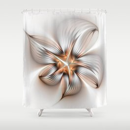 Elegance of a Flower, modern Fractal Art Shower Curtain