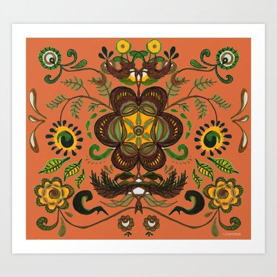 Shenkura Folk Art Pattern Art Print