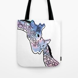 Giraffe Mother And Baby Tote Bag