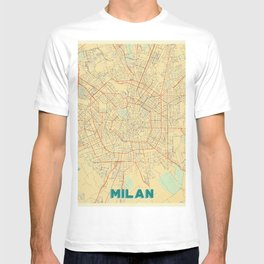 Milan Map Retro T-shirt