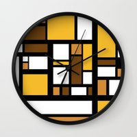 70s Wall Clocks featuring 70s Deco by Lily Mitchell