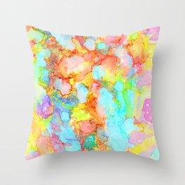 unicorn marble Throw Pillow