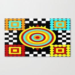 Colorful Darts Canvas Print