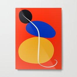 Red Zen Minimal Abstract Metal Print