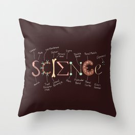 Science Rules Annotated Throw Pillow