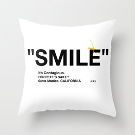 """SMILE"" Throw Pillow"