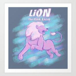 Lion the Pink Lion Art Print