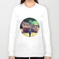 ship Long Sleeve T-shirts featuring Ship by Cs025