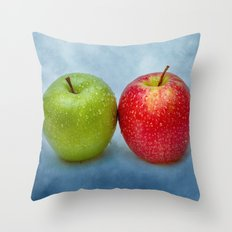 Green And Red Apples Throw Pillow