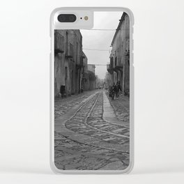 Children of Erice on the Isle of Sicily Clear iPhone Case